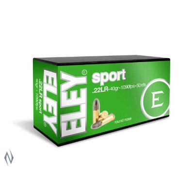 ELEY SPORT 1090FPS 22LR 40GR RN 50PKT