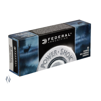 FEDERAL POWER-SHOK 22-250REM 55GR SP 20PKT
