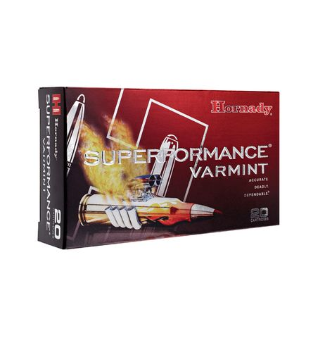 HORNADY SUPERFORMANCE VARMINT 22-250REM 50GR V-MAX 20PKT