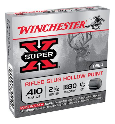 WINCHESTER SUPER X RIFLED SLUG 2.5IN 1830FPS 410GA 6GR 5PKT