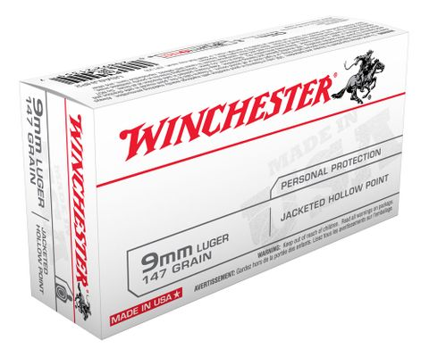 WINCHESTER USA VALUE PACK 9MM 147GR JHP 50PKT