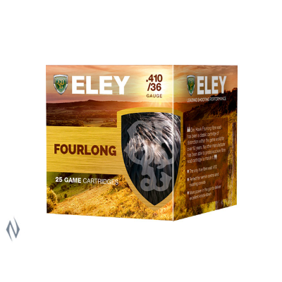 ELEY FOURLONG 2.5IN 410GA 12.5GR 6  25PKT