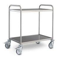 SW 8x5/2 S/S Serving Trolley 2 shelves 800x500