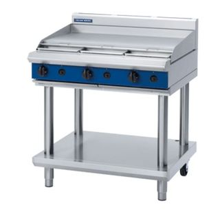 Blue Seal 900mm Flat Grill on Leg Stand