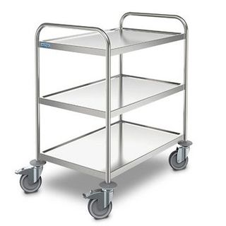 SW S/S 8x5/3 Serving Trolleys 3 shelves 800x500