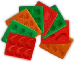 SILICONE FOOD MOLD SET OF 18 MOLDS