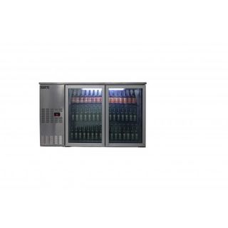Apollo 2 door bottle cooler 400litre
