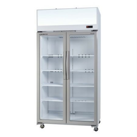 Skope 2 door upright glass door fridge