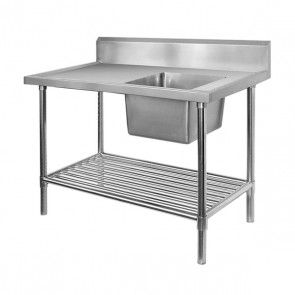 S/S Commercial Sink Bench 700mmD x 1500mmL