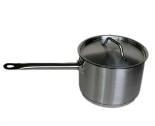 Saucepan 4.4ltr W/Cvr S/S 20cm