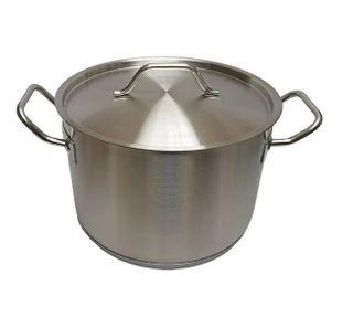 Deep Cookpot 7.2Ltr W/Cvr S/S 24cm