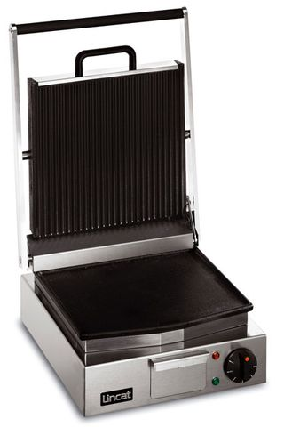Lynx Single Panini Grill Ribbed Upper/Smooth Lower