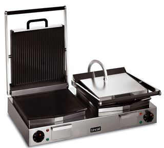 Lynx Double Panini Grill Ribbed Upper/Smooth Lower