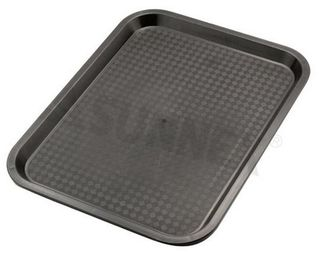 "Black Fast Food tray 45.5x35.5cm (14x18"")"