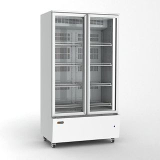 Orford 900 litre 2 glass door chiller