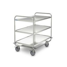 S/S General Purpose Trolley heavy-duty 3 shelves 1000x600