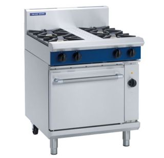 Blue Seal Gas 4 burner range, electric fan oven