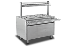 HS Gastroline Hot Service Unit with Hot Cupboard 3GN