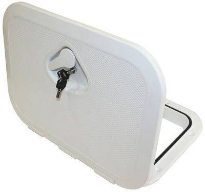 Nuova Deluxe Storage Hatches - White with Lock