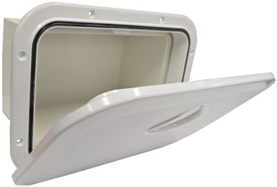 Nuova Deluxe Storage Hatches - White with Storage Box