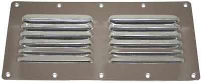 VENT LOUVERED SS 230X115MM