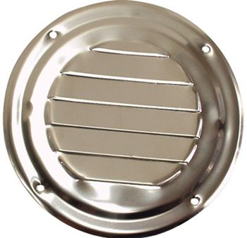VENT LOUVERED SS RND 102MM