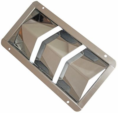 Stainless Steel Louvered Engine Room Vents - Standard