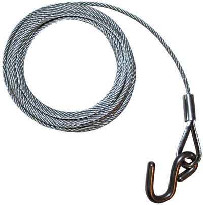Trailer Winch Cable 6x19 Galv Wire with S Hook