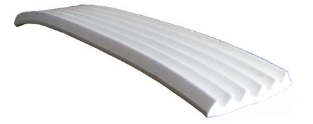 TRAILER STRIP PVC WHITE 45MM