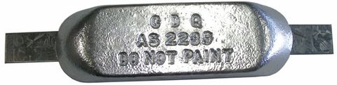 Sacrificial Zinc Hull Anodes - Block with Galv Strap