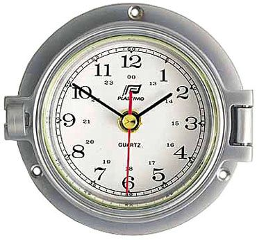 PLASTIMO CLOCK CHROMED HINGED 115MM