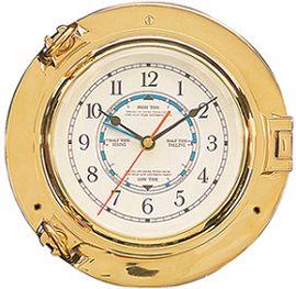 PLASTIMO TIDE CLOCK BRASS P/HOLE 125MM