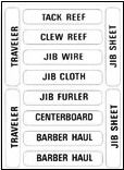 BOAT LABEL NASH 202 CONTROL LINES