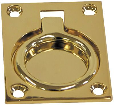 Brass Flush Pull Rings - Large Rectangular
