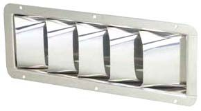 Stainless Steel Louvered Engine Room Vents - Low