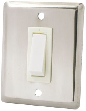 Electric Light Switch - Flush Mount Stainless Steel
