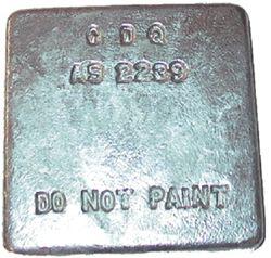 Zinc Block Anodes