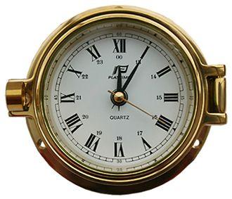 PLASTIMO CLOCK BRASS HINGED 75MM
