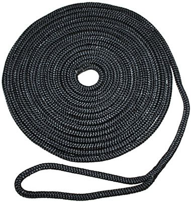 Black Braided Nylon Docklines with Eye Splice