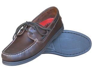 Burke Flinders Tan Leather Boating Shoes