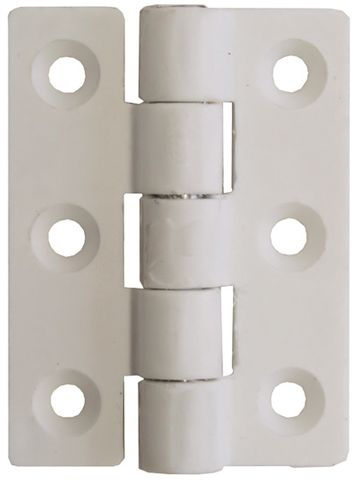 White Nylon Butt Hinges
