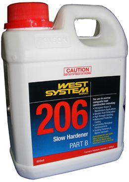 West System Epoxy Hardener Slow 206
