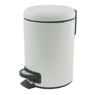 Suds White Pedal Push Bin 3L