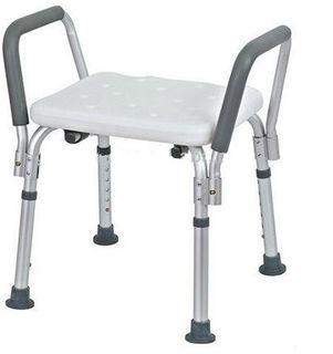Shower Seat Armrest 45x44cm Adj Height