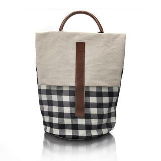 Gingham Waterproofed Cotton Bag