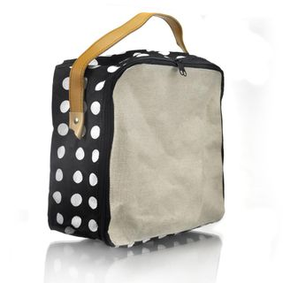 Polka Waterproofed Cotton Storage Bag