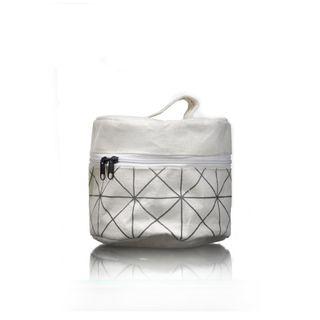 Lattice Round Waterproofed Cotton Bag