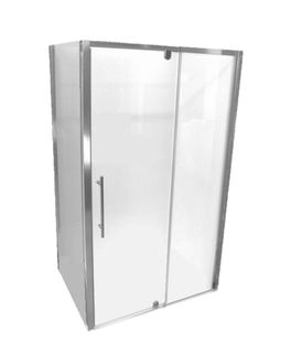 Glastonbury 1200x900 Glass Shower Screen Set Chrome