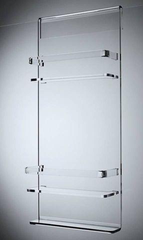 Dbl Shelf Easy Clean Acrylic Caddy /Wide