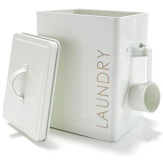 Tin Laundry Box White